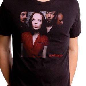 Garbage Graphic Band Fitted T-Shirt